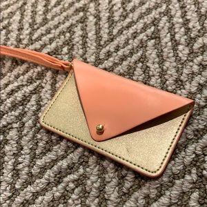 BUNDLE ITEM: faux leather mini wristlet